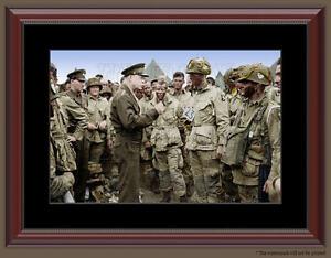Details about General Eisenhower D Day Paratrooper Color Framed Photo Print  World War II