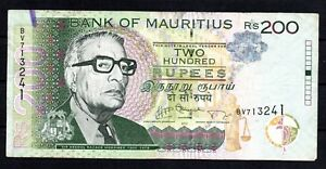 Actuelle Billet: Bank Of Mauritius 200 Roupies De Circulation 2013-afficher Le Titre D'origine Facile à Lubrifier