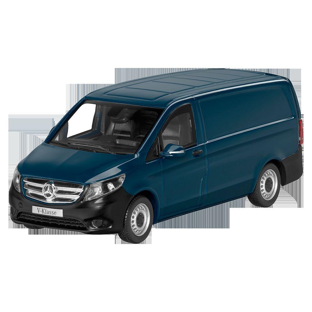Mercedes - benz w 447 - vito 2014 kastenwagen   lieferwagen navyblau 1 43 neu ovp