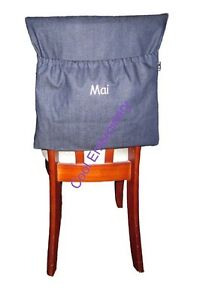 Image Is Loading Personalised Made To Order Navy Denim Chair Bag