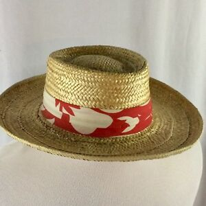 Vintage Paramount Straw Hat Large Summer Sun Hat Gardening Outdoors ... fd9630db8ffc