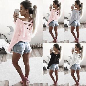 Camisa-Blusa-Para-Mujer-Suelta-Informal-Mangas-Largas-Camiseta