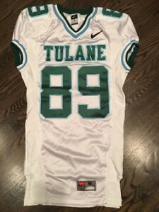 e1c1013a4 Game Worn Used Nike Tulane Green Wave Football Jersey  89 Size M
