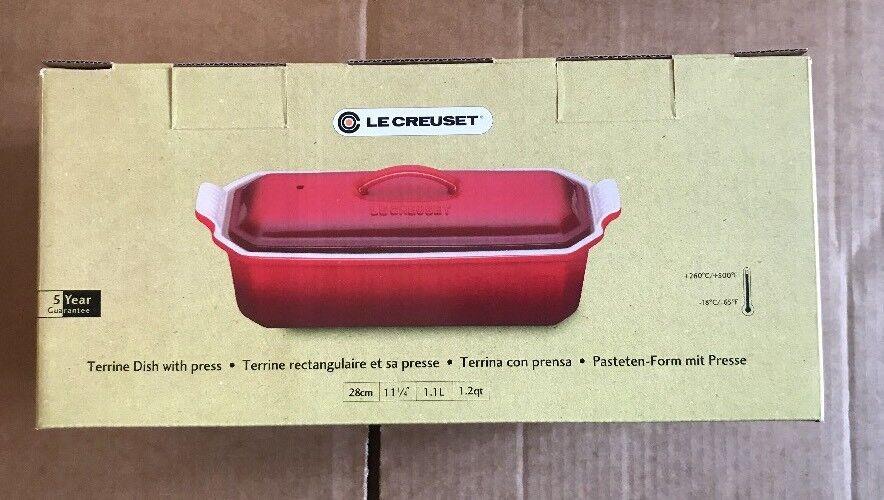 Le Creuset 28 cm PATO PLATO & Pulse 1.1L- Cerise (nuevo Y En Caja)