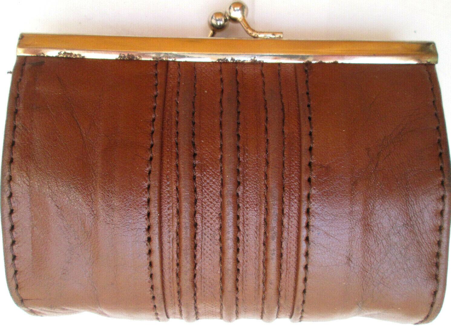 - purse vintage leather clipsé tbeg