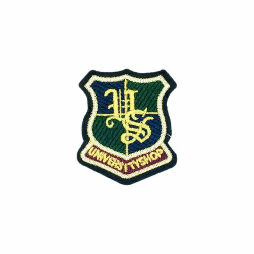 University Shop Shield Badge Embroidery Applique Patch Sew Iron Badge Sew On