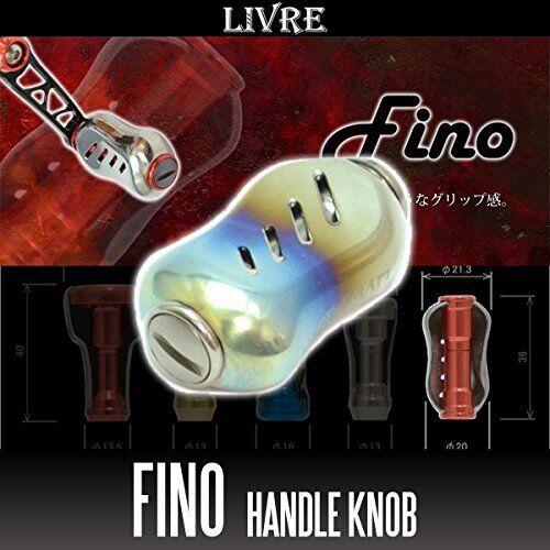 LIVRE Fino Titanium Handle Knob 1  piece FIRE   TITANIUM  comfortable