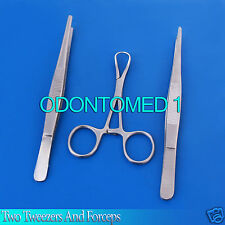 Two Tweezers And Forceps Surgical Instruments Set DS-664