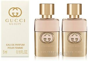 2 X Gucci Guilty Pour Femme Edp Eau De Parfum Mini Splash Bottles