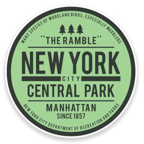 2 x Central Park New York USA Vinyl Sticker Travel Car Luggage #9116