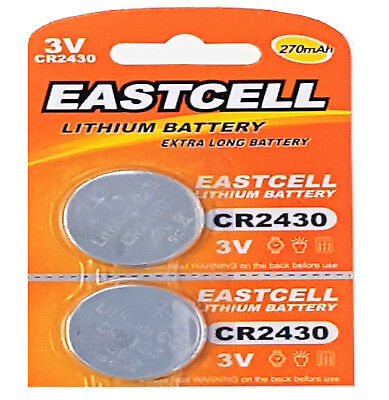 1 Blistercard a 1 Batterien EASTCELL 1 x CR2430 3V Lithium Batterie 270 mAh