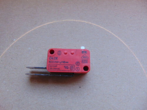 Schalter CHERRY Bauknecht Philips  Whirlpool Spülmaschine D43X rot