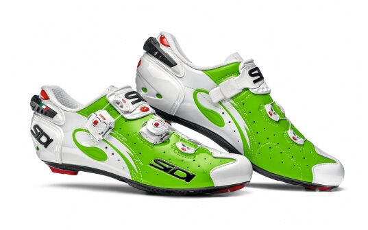 New Sidi Wire Carbon Cycling shoes, Green Fluo White, EU40-42