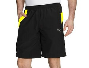 53a27d0b9a35 New Mens PUMA Woven Longer Shorts Pants Sports Gym Summer Knee ...