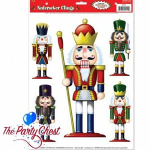 image is loading christmas nutcracker window cling toy soldier christmas window - Christmas Soldier Decorations