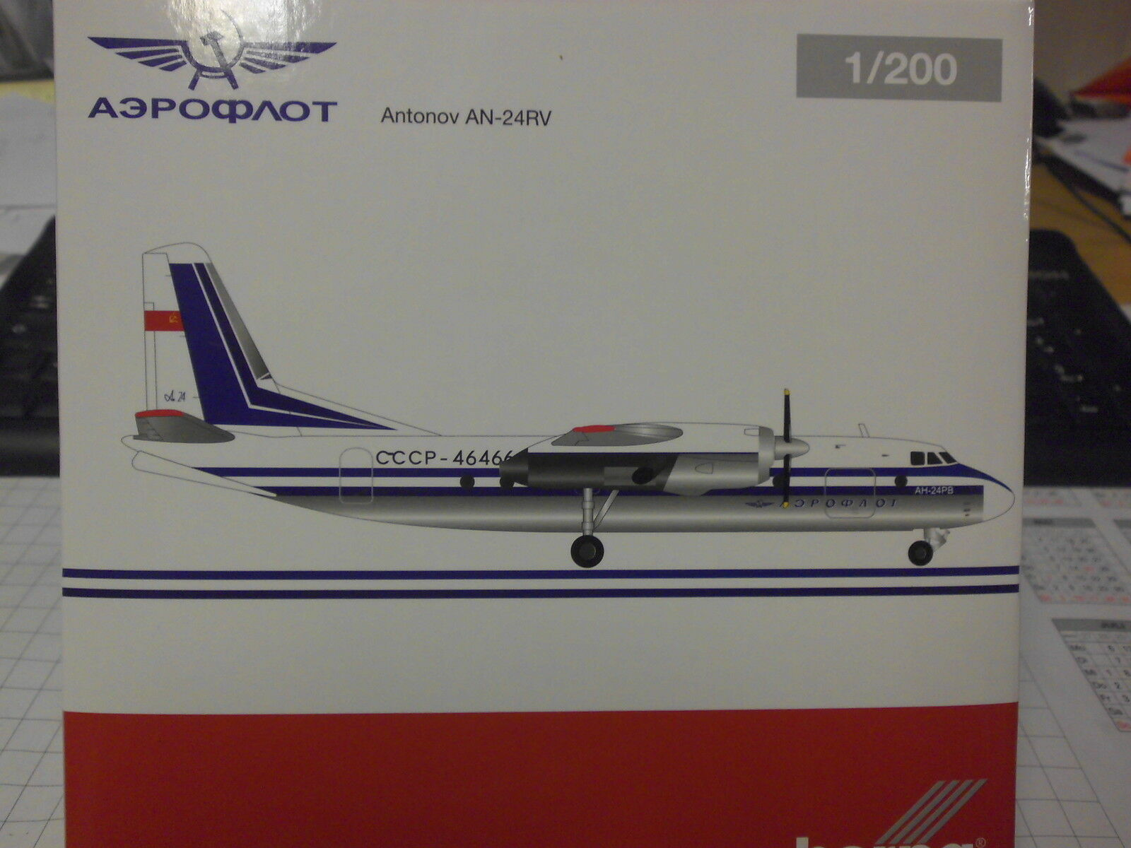 Herpa 1 200 558914 Aeroflot Antonov an-24rv Nouveau neuf dans sa boîte
