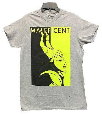 Disney Womens T-Shirt Maleficent Print Villain Heather Grey