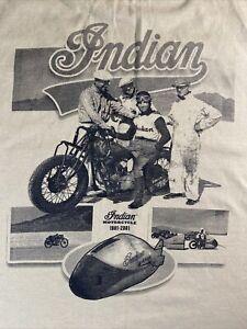 2001-Motorcycle-Hall-Of-Fame-Museum-Indian-100-Years-T-Shirt-MEDIUM-Tan-Ohio