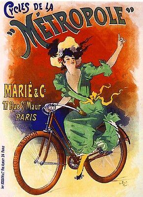 Metropole Bicycle Advertisement Art Poster Print
