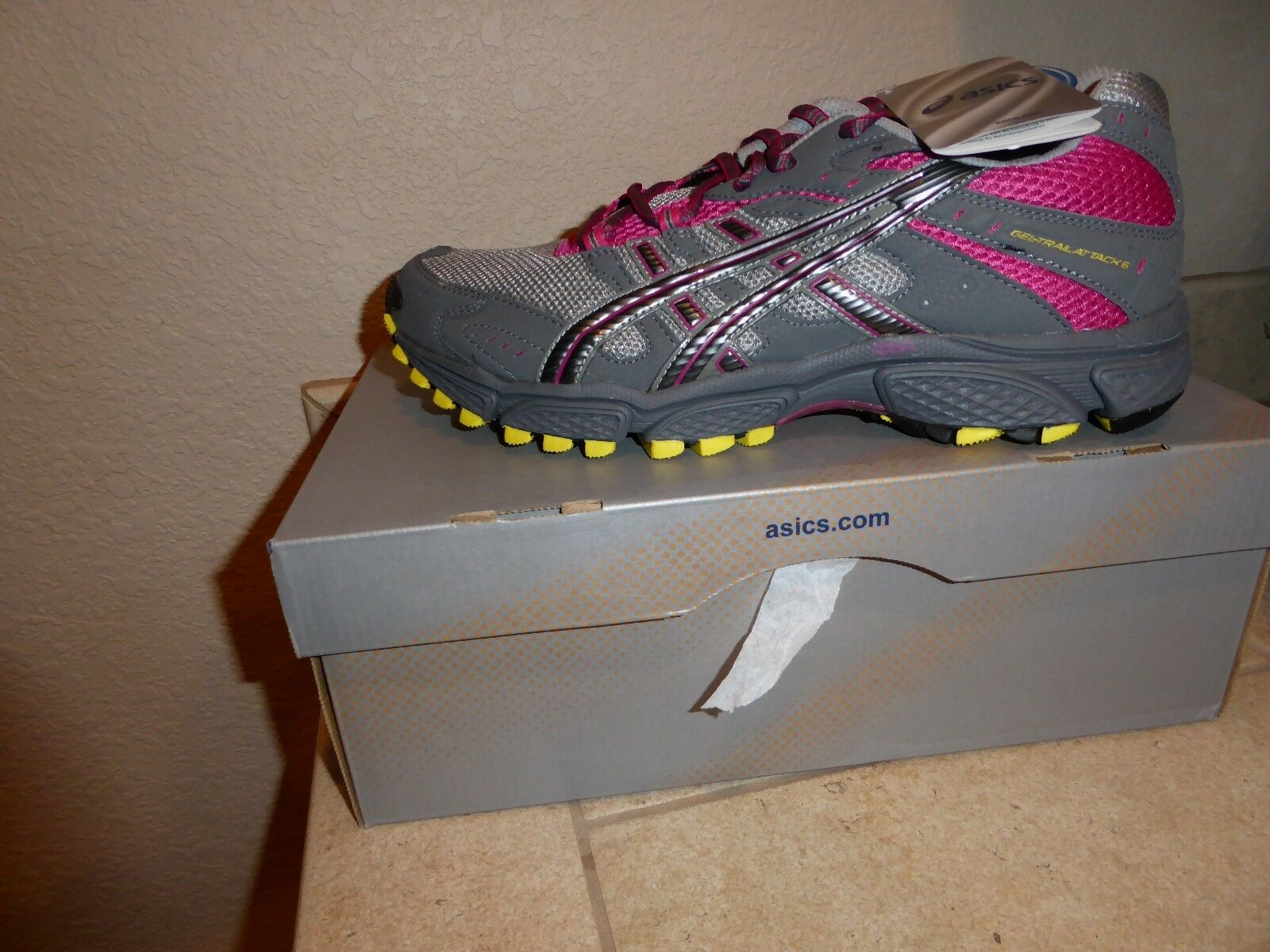 NIB Asics Gel Trail Attack 6 donna Trail Running Hiking scarpe Dimensione 10.5 US RARE
