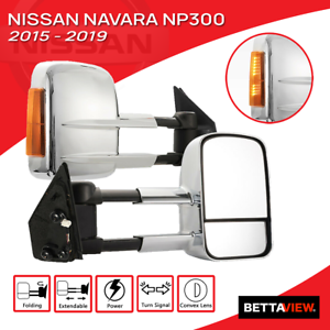 Bettaview Extendable Towing Mirrors for Nissan Navara NP300 2015 To Current
