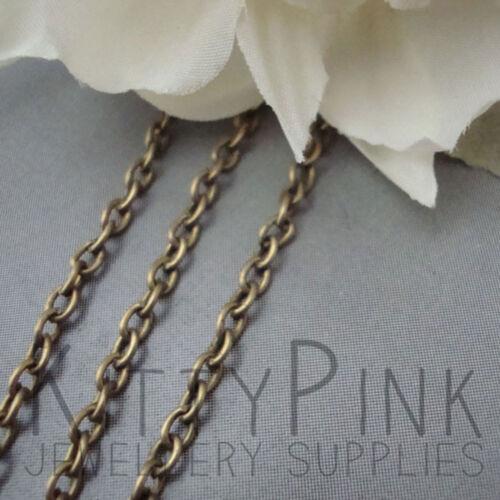 10 mètres antique or bronze bijoux chaîne 3 x 2mm nickel libre commerce de gros en vrac