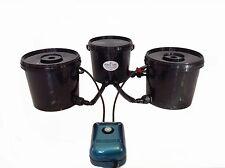 DEEP WATER CULTURE 2 POT BUBBLE TUBZ HYDROPONIC SYSTEM DWC 16L NOT ALIEN, RDWC