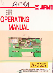 Acra J1C6132, 36 40, China Horizontal Lathe, Operations Manual