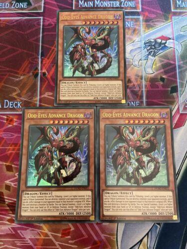 NM Yu-Gi-Oh 3x Ultra Rare Odd-Eyes Advance Dragon 1st Edition DUPO-EN011