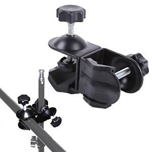 Phot-R-Double-Dual-2-C-Clamp-Clip-Photo-Studio-Light-Stand-Boom-Arm-Reflector