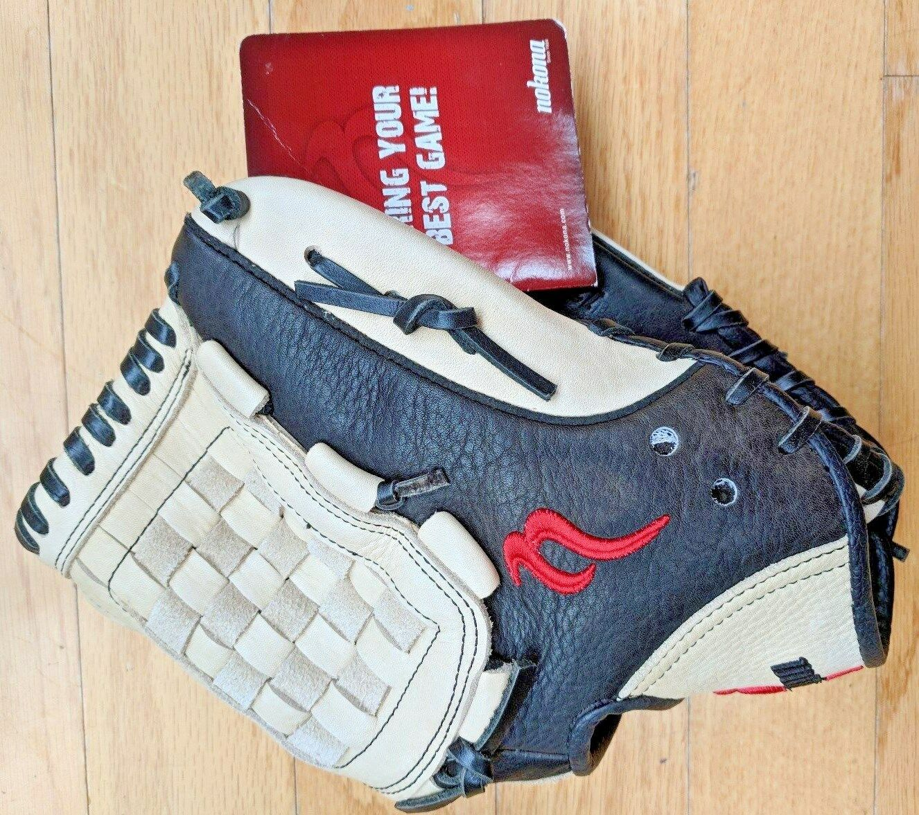 Nokona Kona NKK NKK Kona 1201 Tanned Pelle 12 Inch Baseball Glove (450) RHT - NEW W TAG 44beec