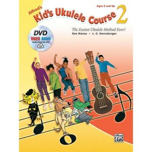 Alfred's Kid's Ukulele Course 2 Book DVD & Online Audio & Video