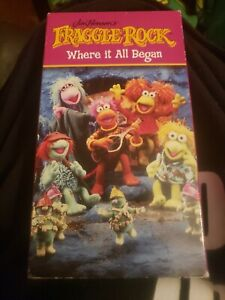 FRAGGLE-ROCK-Where-It-All-Began-1-VHS-Video-Tape-Jim-Henson-First-Episode