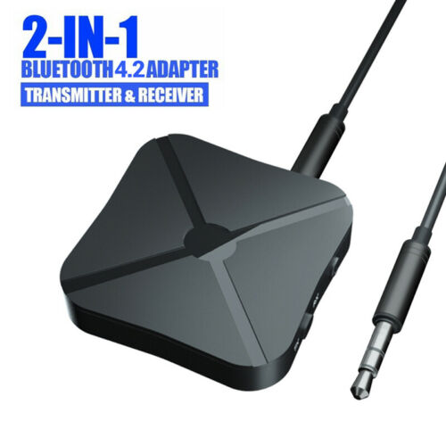 2 in 1 Bluetooth Wireless Transmitter Receiver 4.2 Adapter Audio Car Music TV FF