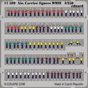 EDUARD MODELS 1/350 Ship- Aircraft Carrier Figures WWII (Painted) EDU17509