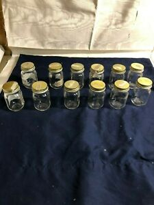 5-SETS-OF-12-Ball-Glass-Mini-2-oz-Mason-Jars-OLE-039-SMOKY-WHISKEY-FAVORS