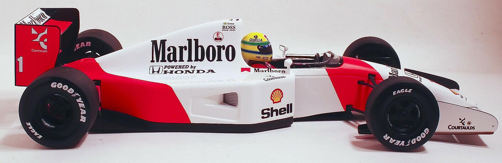 1 18 Ayrton Senna 1992 McLaren Honda MP4 7 FULL LIVERY n
