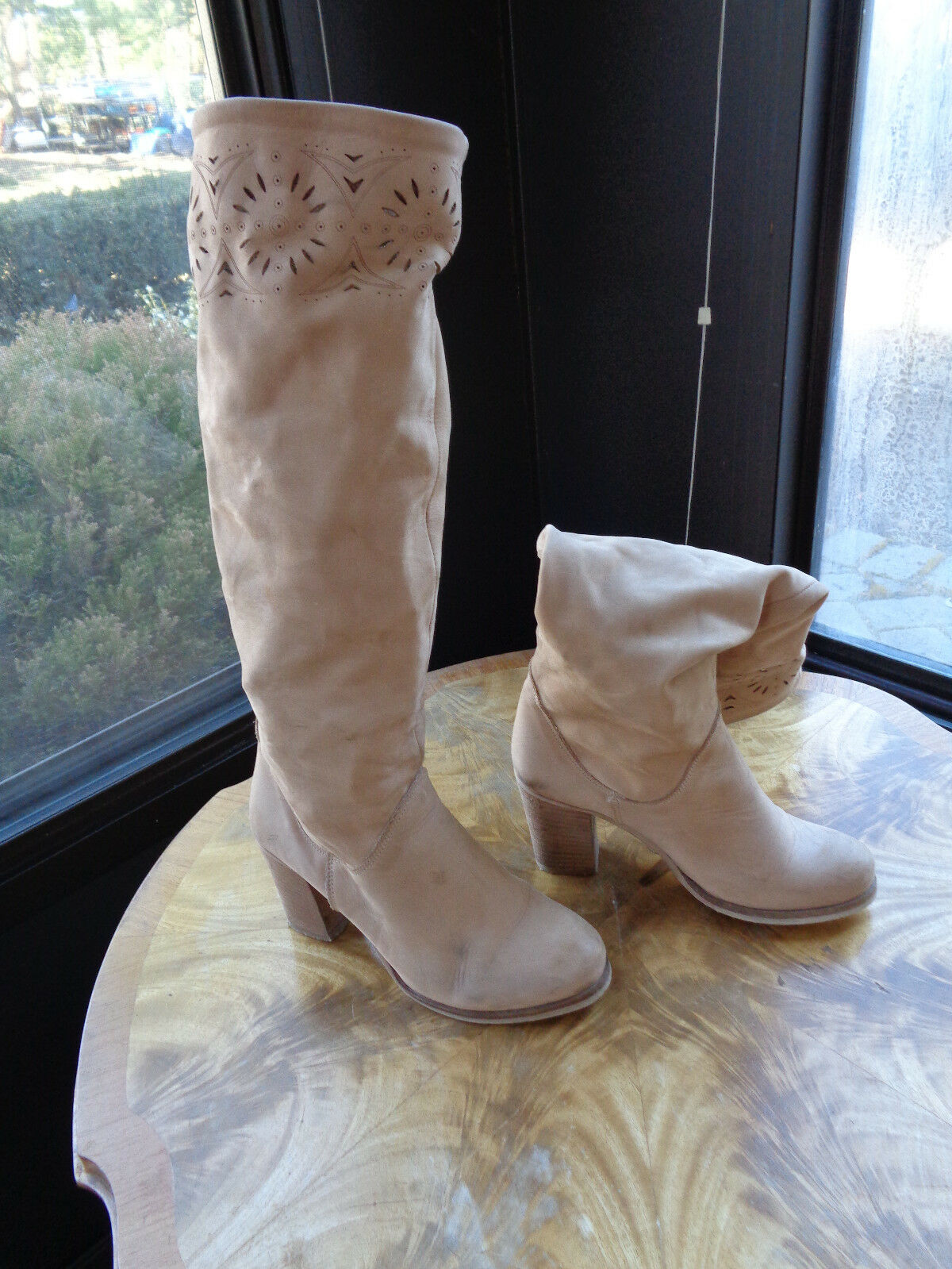 LAVORATO a mano Femme Bottes Euro Taille 36 MADE IN ITALY