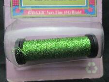 Green Kreinik Very Fine Metallic Braid #4 12 Yds