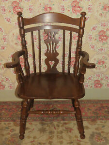 tell city rockport arm chair 8077 hard rock maple wood paxton 47