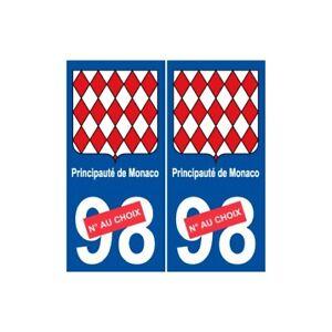 Principality MONACO Number Plate Sticker Sizes