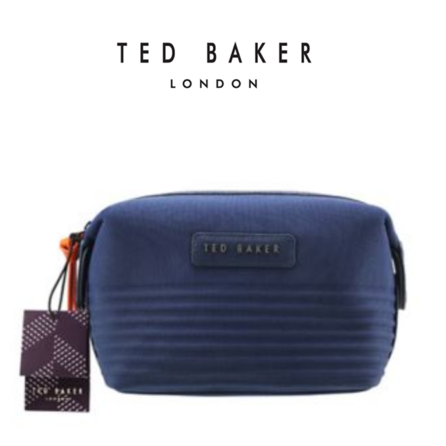 31bf457a9cf6 New TED BAKER Designer Men Navy Canvas Weekend Sports gym gift Toiletry  Wash Bag