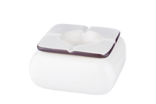 Keramik eckig weiß 12 cm NEU Windascher Sturmascher