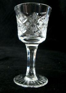 Set-of-5-Liqueur-Aperitif-Glasses-goblets-4-034-Cross-and-Star