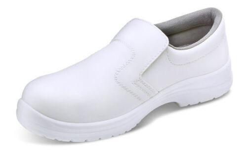 MICRO-FIBRE SLIP ON SHOES S2 WHITE