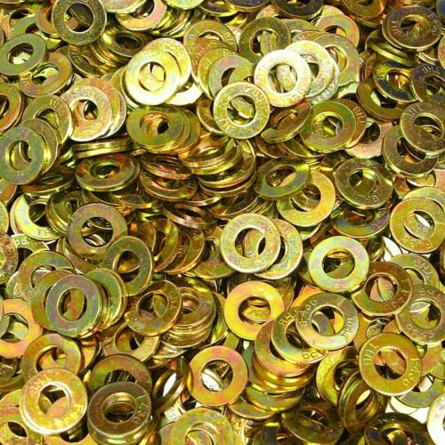 """Details about  / 1500 1//4/"""" F436 Structural Flat Washer Grade 8 Thru-Hardened SAE Yellow Zinc"""