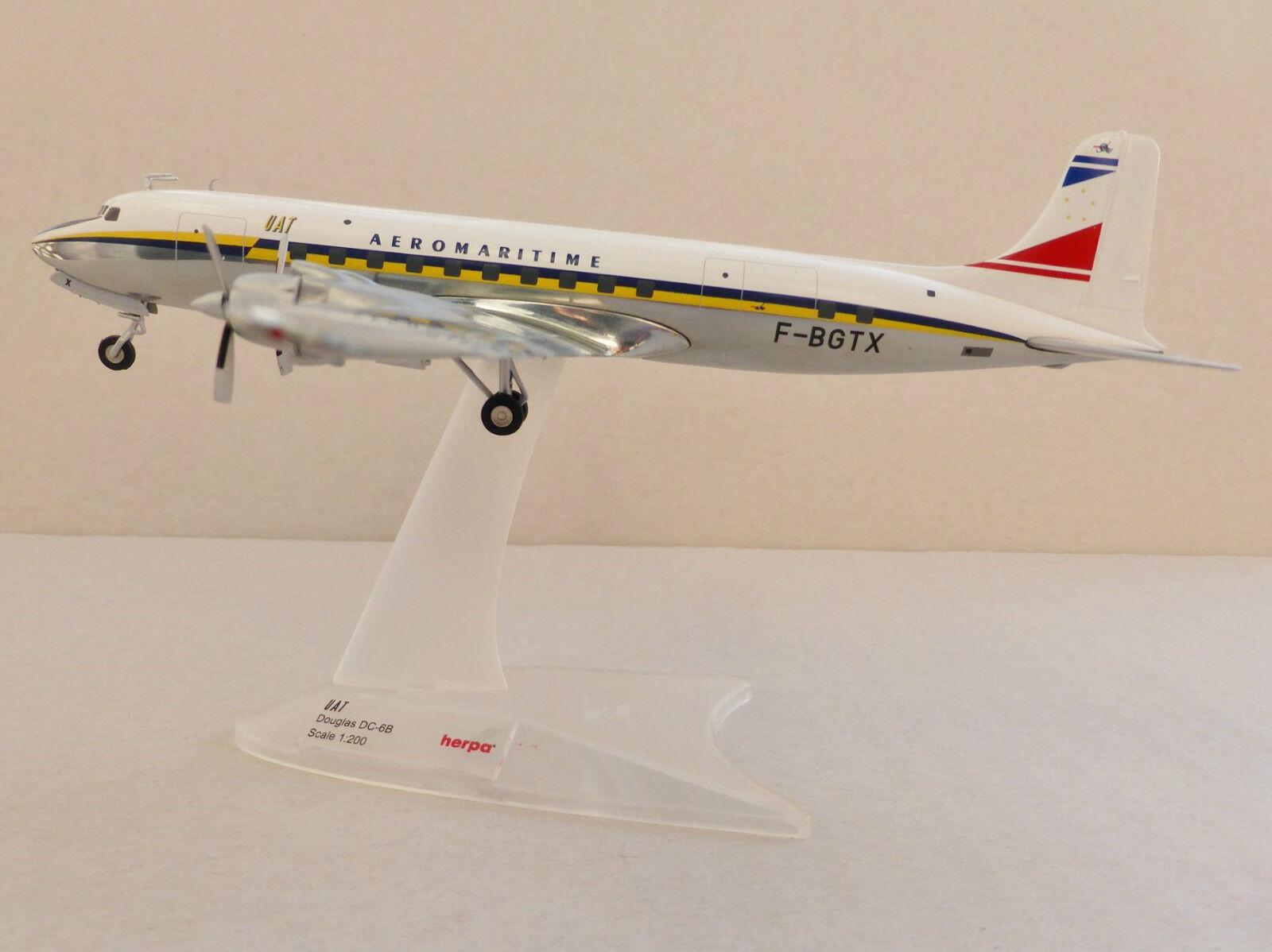 Uat Douglas DC-6B Union Aeromaritime Transport 1/200 Herpa 556606 Dc Dc Dc 6 Dc-6 Dc6 | Mode  ef5b5e
