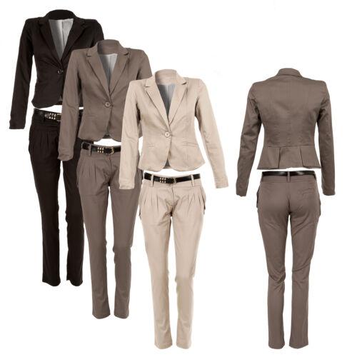 Cotone Pieghe Di Tre Chino Blazer Posteriore Con Pantaloni E Completo qRz8OOYH