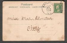 Nordfjord post card Herbert Clark Brighton IL to Mae Sweetser in-city 1910