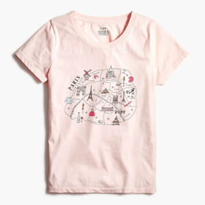 /'Til My French Comes Out Womens White Short Sleeve Shirt Top S-XXL Paris Europe Ladies World France V-neck T-shirt Cute Now..